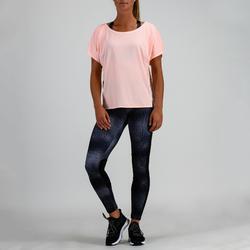 Fitness shirt 120 voor dames, lichtroze