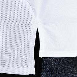 T-Shirt FTS 120 Cardio-/Fitnesstraining Damen weiß mit Print