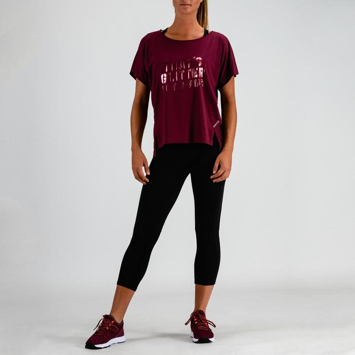Fitness shirt 120 voor dames, bordeaux