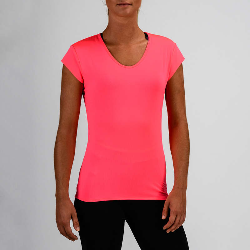 WOMAN FITNESS ENERGY APPAREL Clothing - FTS 100 T-Shirt - Pink DOMYOS - Tops