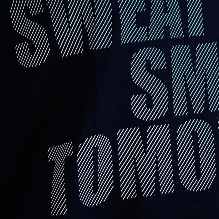 T-Shirt FTS 120 Cardio-/Fitnesstraining Damen marineblau mit Print