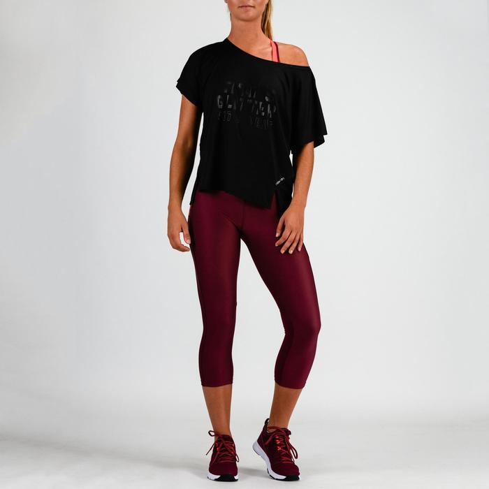 Fitness shirt 120 voor dames, zwart