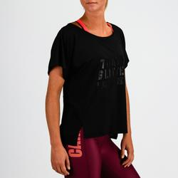 T-Shirt FTS 120 Fitness Cardio Damen rosa