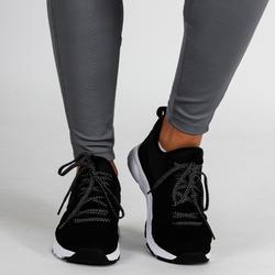 Legging cardio fitness femme gris 120