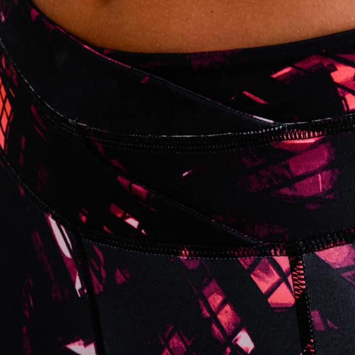 Cardiofitness legging voor dames 520 zwart met print
