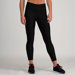 Mallas Leggings Deportivos Cardio Fitness Domyos 520 mujer negro