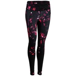 Leggings FTI 520 Fitness/Ausdauertraining Damen schwarz mit Print