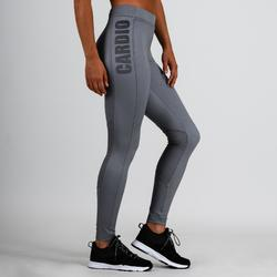 Legging 120 voor cardiofitness dames grijs