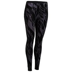 900 Women's Cardio Fitness Leggings - Black/Lilac Print