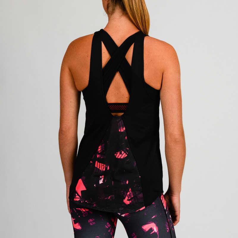 FITNESS CARDIO CONFIRMED WOMAN CLOTHING Fitness, siłownia - Koszulka FTB 500  DOMYOS - Odzież i buty fitness
