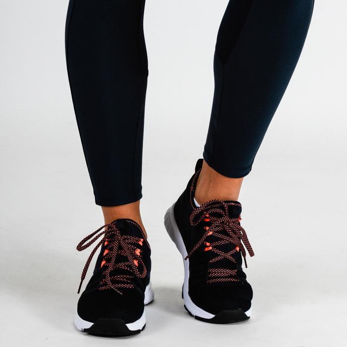 Mallas Leggings Deportivos Cardio Fitness Domyos 120 mujer azul marino