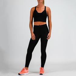Fitnesslegging 120 voor cardiotraining dames zwart