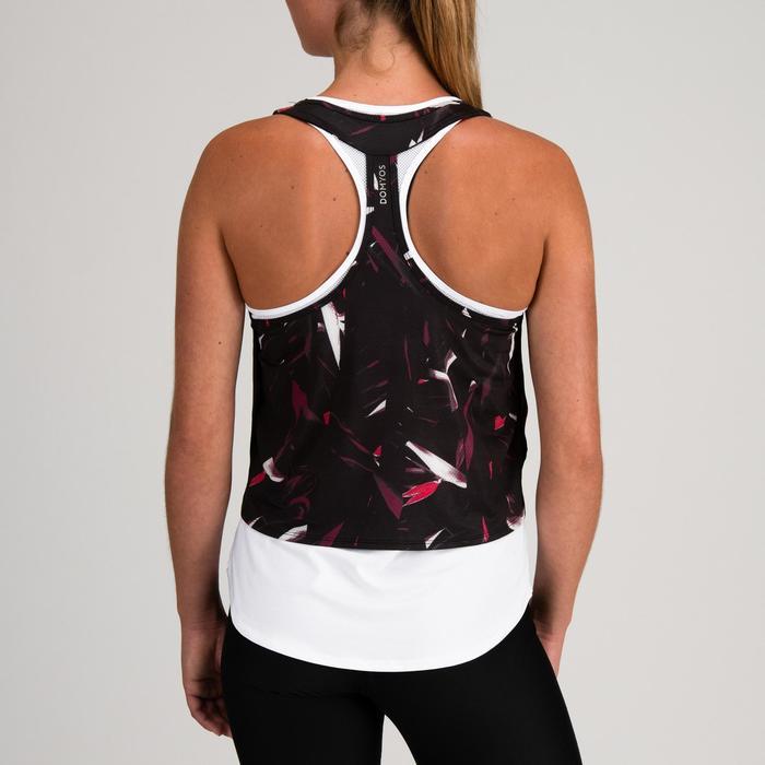 Top 3-in-1 FTA 520 Fitness Cardio Damen weiß mit Print