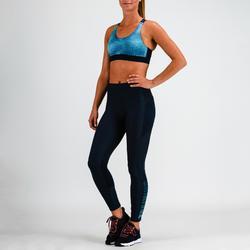 Legging fitness cardiotraining dames 120 marineblauw