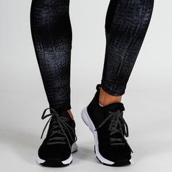 Legging fitness cardiotraining dames 120 grijs print