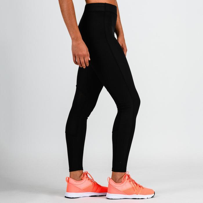 Legging cardio fitness femme noir 120