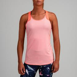 Top wendbar FTA 520 Fitness Cardio Damen pfirsich/hellrosa