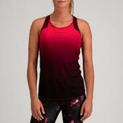 520 Women's 3-in-1 Cardio Fitness Tank Top - Burgundy/Coral