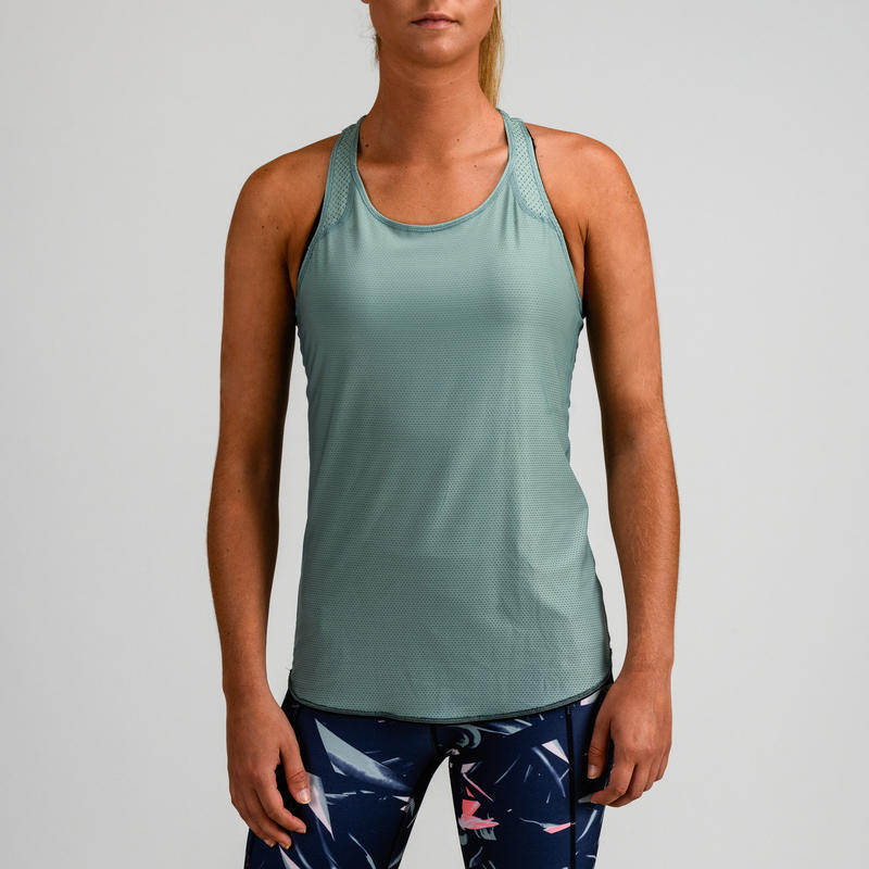 520 Women's Reversible Cardio Fitness Tank Top - Khaki