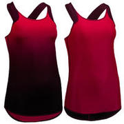 Temno rdeča ženska majica brez rokavov 520