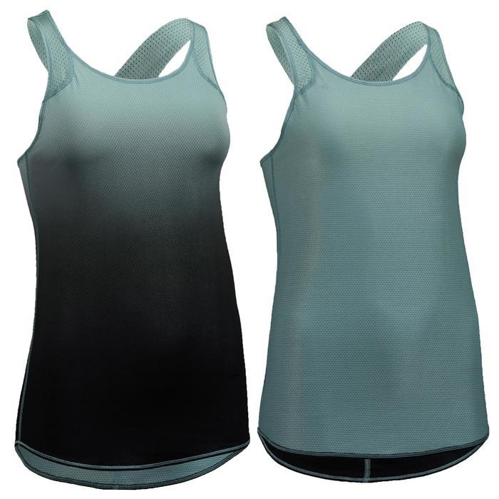Fitness top 520 voor dames omkeerbaar, kaki