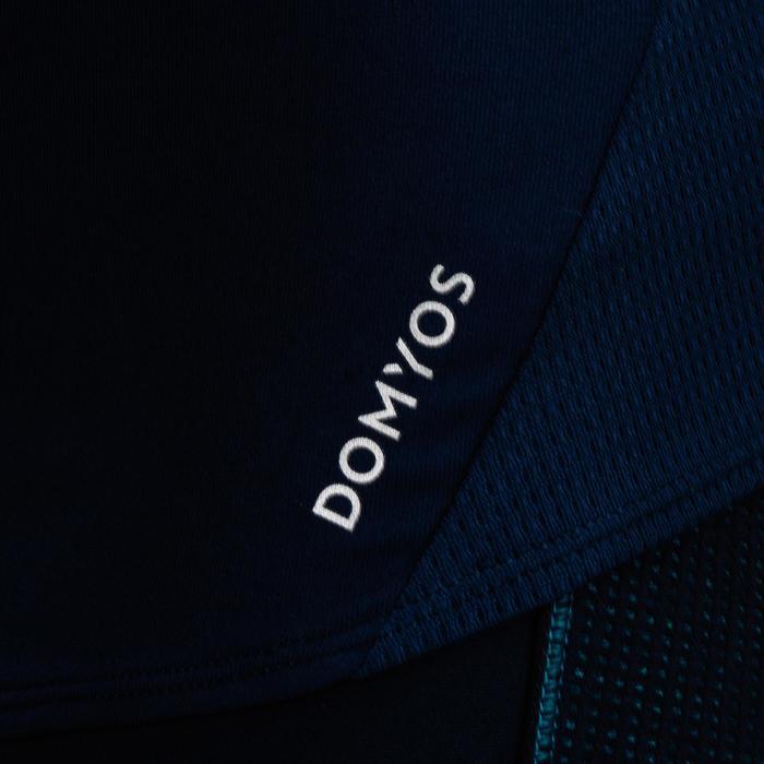 Top FTA 120 Cardio-/Fitnesstraining Damen marineblau mit Print Seidenglanz