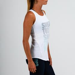 Top 120 Cardio-/Fitnesstraining Damen weiß mit Print
