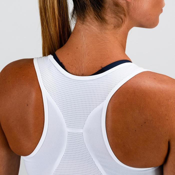 Fitness top 120 voor dames, wit