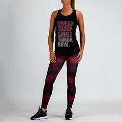 120 Women's Cardio Fitness Tank Top - Black Print