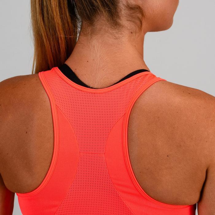 Fitness top 120 voor dames, rood