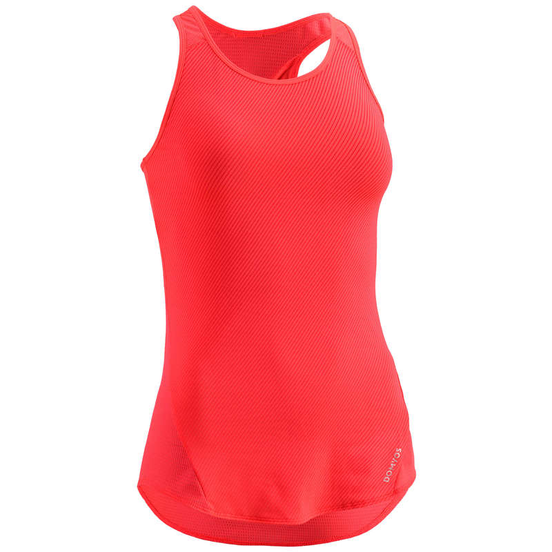 WOMAN FITNESS ENERGY APPAREL Fitness and Gym - FTA 120 Tank Top - Coral DOMYOS - Fitness and Gym