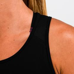 Top FTA 120 Fitness Cardio Damen schwarz mit Print