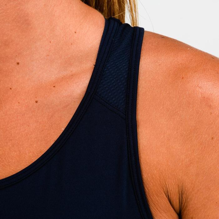 Fitness top 120 voor dames, blauw