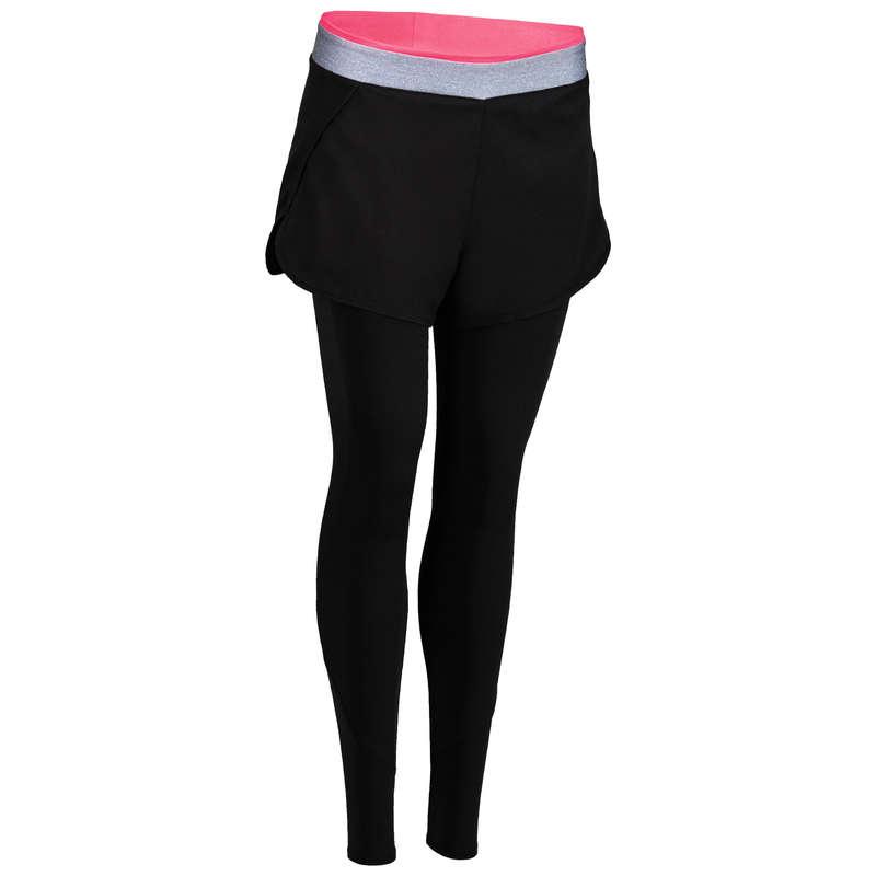 WOMAN FITNESS ENERGY APPAREL - FSL 100 Legging-Short - Black DOMYOS