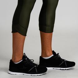 Mallas Leggings Deportivos 7/8 Cardio Fitness Domyos 520 mujer caqui