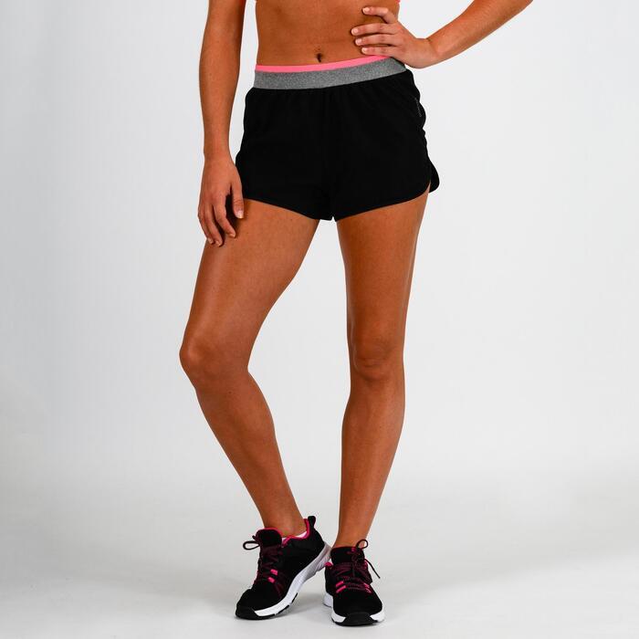 Sportbroekje fitness 100 voor dames, zwart