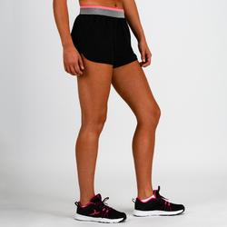 Short ample entraînement cardio femme noir 100