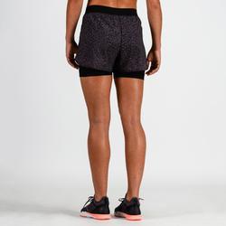 900 Women's Cardio Fitness Shorts - Lilac Print
