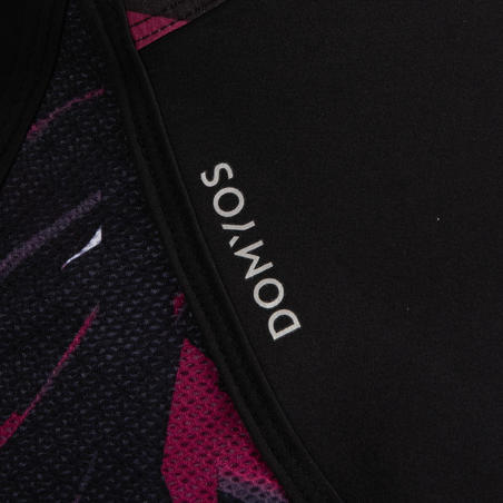 500 Women's Loose-Fit Cardio Fitness Shorts - Black Print