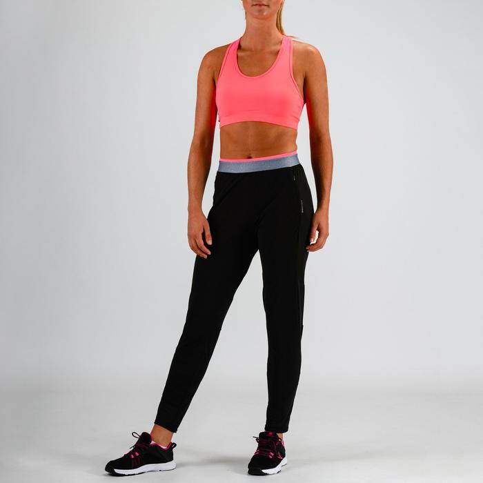 Pantalón Cardio Fitness Domyos 100 mujer negro