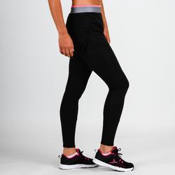 100 Women's Cardio Fitness Legging-Short - Black