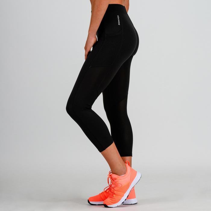Leggings 7/8 cardio fitness mujer negro 120