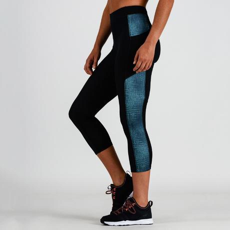 1ec61ec37d 120 Women's 7/8 Cardio Fitness Leggings - Blue Print | Domyos by ...