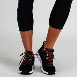 Fitness legging 120 voor dames 7/8, blauw
