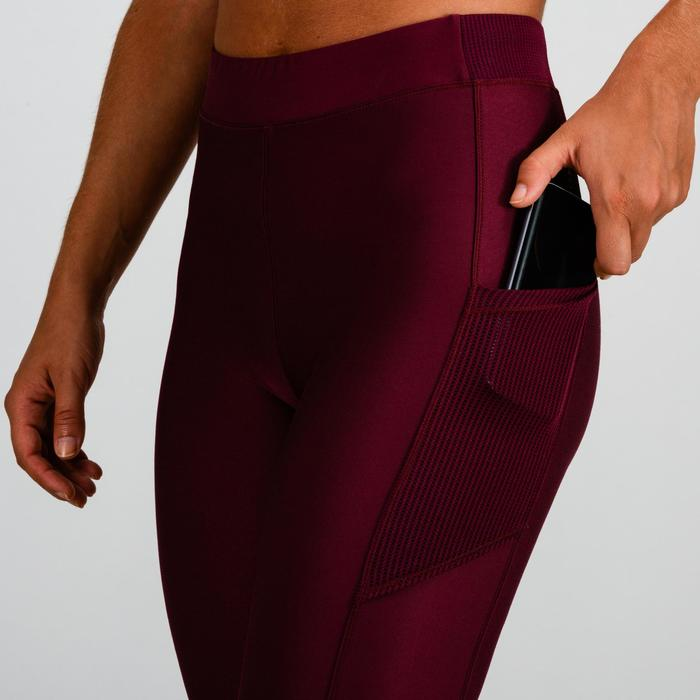 7/8 Leggings FLE 120 Cardio Fitness Damen bordeaux