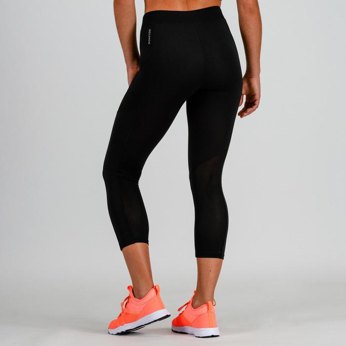 7/8 Leggings FLE 120 Cardio Fitness Damen schwarz
