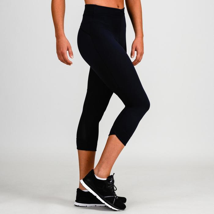 Legging 7/8 cardio fitness femme bleu marine 520