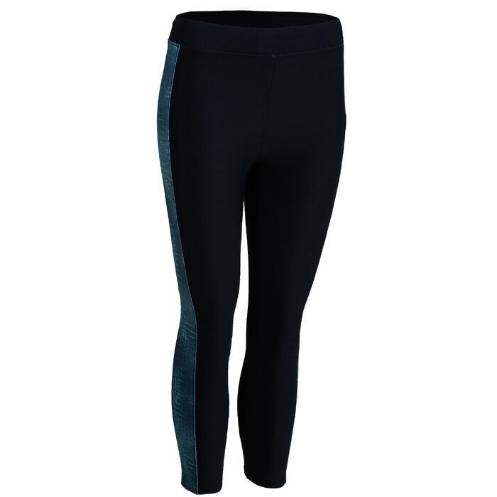 Leggings 7/8 cardio fitness mujer azul estampado 120