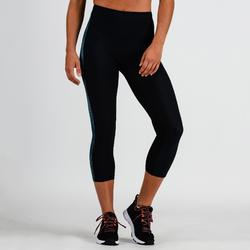 Legging 7/8 cardio fitness femme bleu imprimé 120