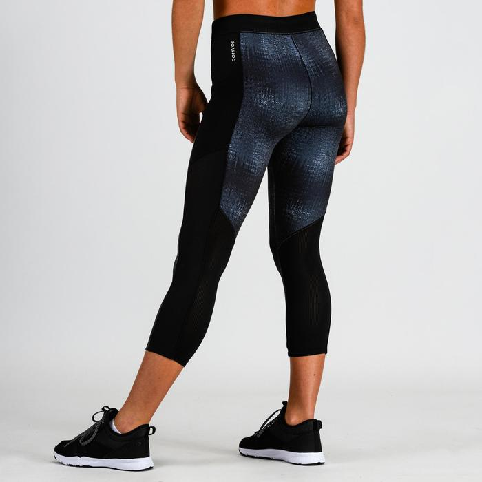 120 Women's Cardio Fitness 7/8 Leggings - Grey Print